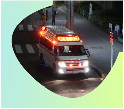 救急搬送となる場合、搬送先病院の確保に協力いたします